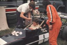 MARCH 733 David Purley cockpit close up photo, Mallory park 1973